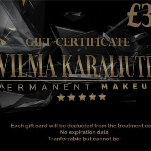 permanent makeup gift card